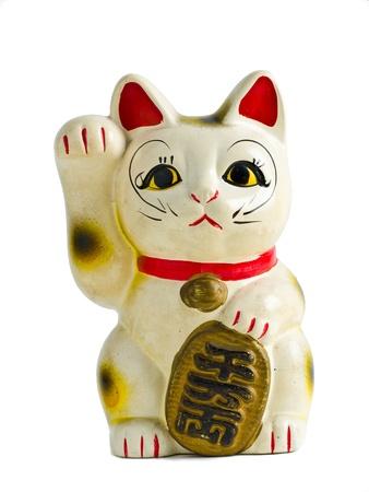 se�al de silencio: Maneki Neko frente aislada