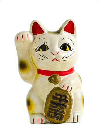 Maneki Neko front Isolate Stock Photo - 9238247