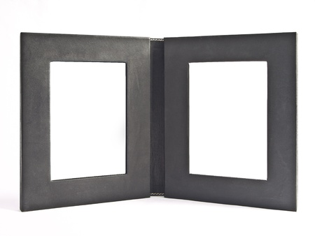 leather double frame Standard-Bild