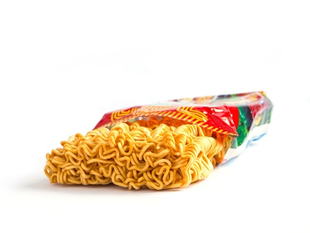 Instant noodles with package photo