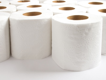 roll of paper: toilet paper Stock Photo