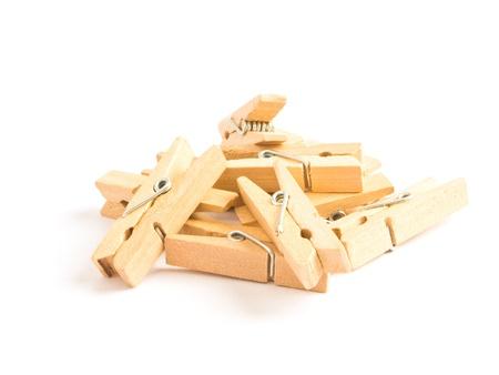 wooden clothes clip photo