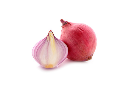 cebolla roja: cebolla roja, la cebolla en el fondo blanco