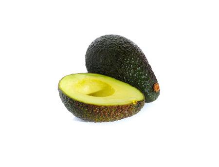ripe avocado isolated on white background photo