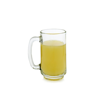pineapple  glass: glass of pineapple juice isolated on white background