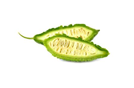 bitter melon: fresh bitter melon isolated on white background