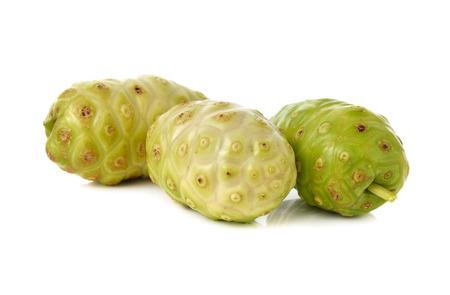 noni fruit: fresh noni fruit on white background Stock Photo