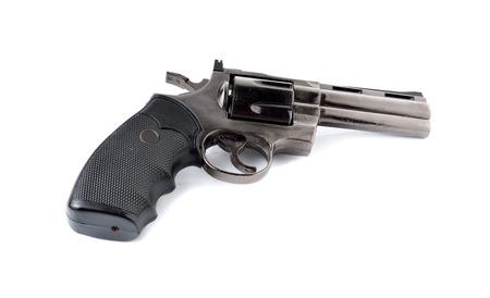 toy gun magnum 357 on white background