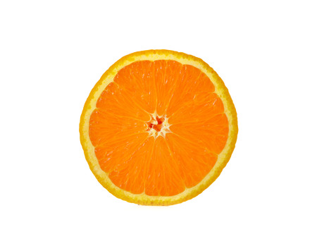 sliced orange: sliced orange on white background