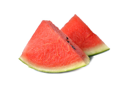 sliced watermelon: sliced watermelon on white background