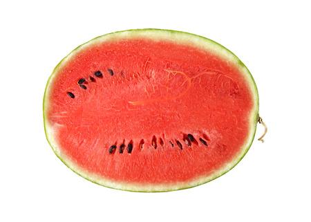 half cut: half cut watermelon on white background