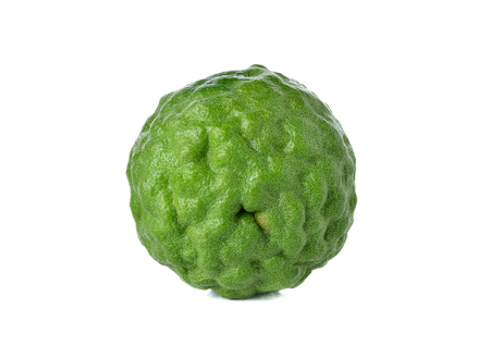 pijawka: fresh bergamot or Leech Lime on white background
