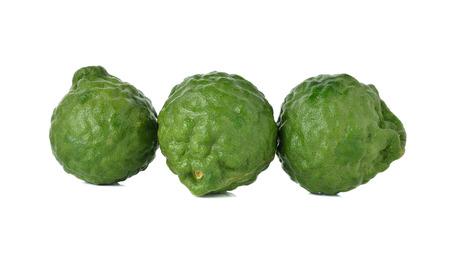 leech: bergamota fresca o sanguijuela cal en el fondo blanco