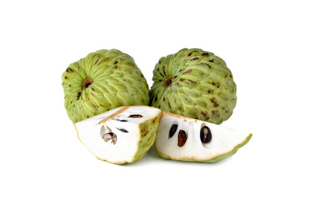 custard apple fruit: custard apple fruit on white background