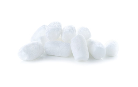 packaging equipment: white foam shockproof on white background