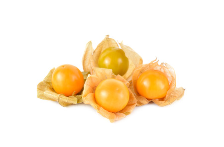 cape gooseberry: cape gooseberry physalis fruit on white background