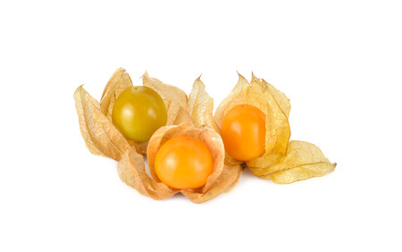 cape gooseberry: cape gooseberry physalis fruit on white background