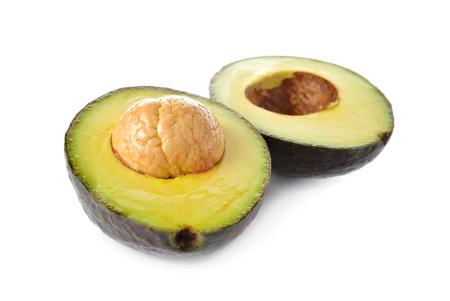 half  cut: half cut Avocado on white background