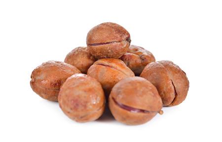 groundnut: pile of Bambarra Groundnut on white background