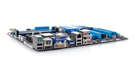 red informatica: Panel posterior Conectores de la placa base del ordenador
