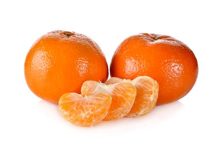 whole murcott mandarin orange on white background