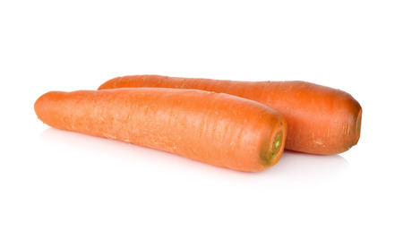 unpeeled: unpeeled fresh carrot on white background Stock Photo