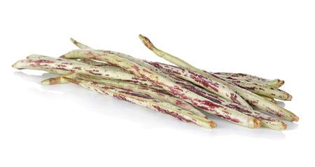 long beans: fresh Yard Long Beans on white background