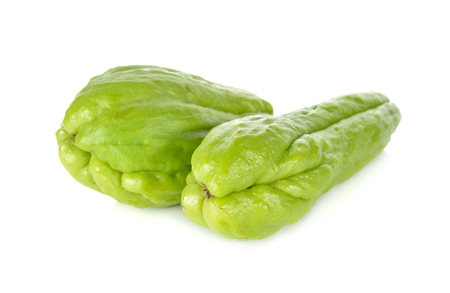 chayote: whole fresh chayote on white background