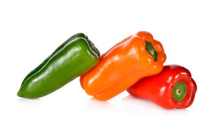 aura: fresh Aura sweet pepper on white background