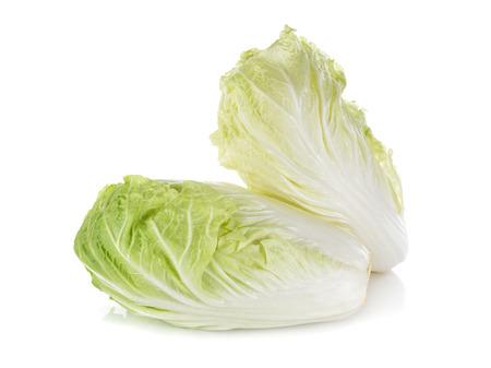 fresh Chinese cabbage on white background Stock Photo