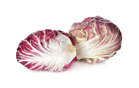 radicchio: fresh red radicchio on white background