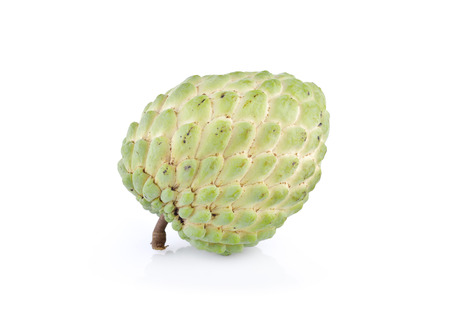 custard apple fruit: custard apple fruit with stem on white background