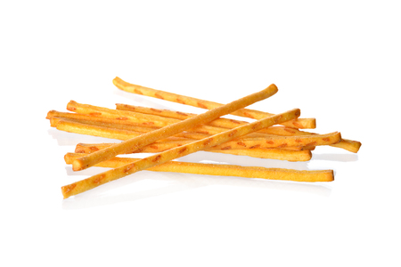 pretzel stick: pretzel or crackers stick on white background