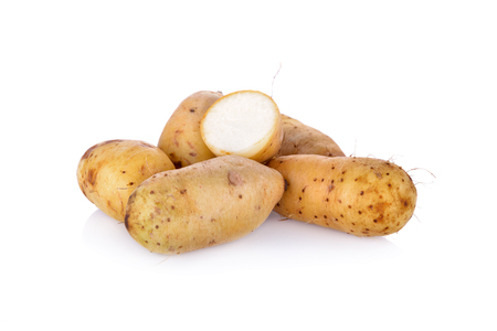 raw potato Dioscorea  burmanica or Mon Nok, it is local potato of Thailand 写真素材