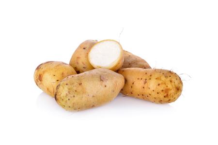 raw potato Dioscorea  burmanica or Mon Nok, it is local potato of Thailand Banco de Imagens