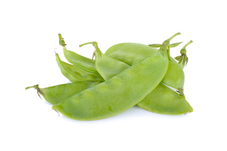 pea pod: fresh giant sugar pea on white background