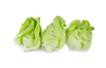 fresh butter head lettuce on white background Stock Photo