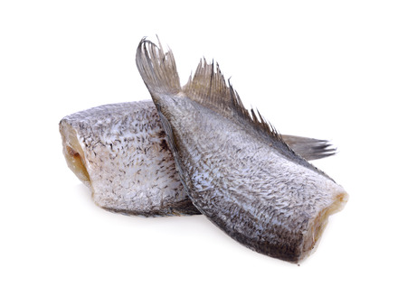 marinated Gourami fish (one-sun) on white background