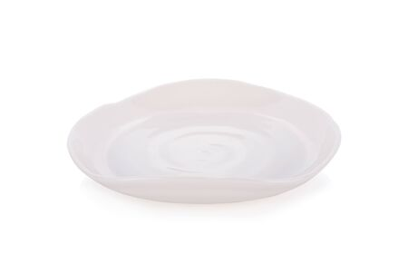 ceramic white empty plate on white background