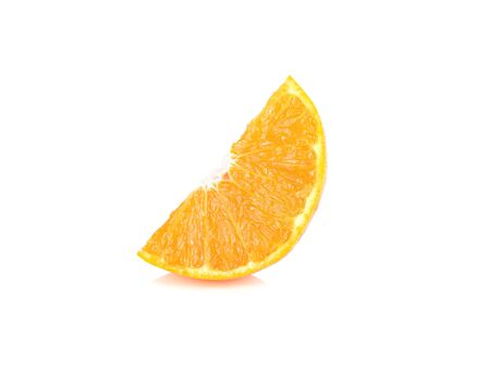 sliced ripe Australia honey murcott mandarin orange on white background