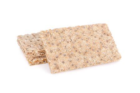 pile of oatmeal cracker on white background Imagens