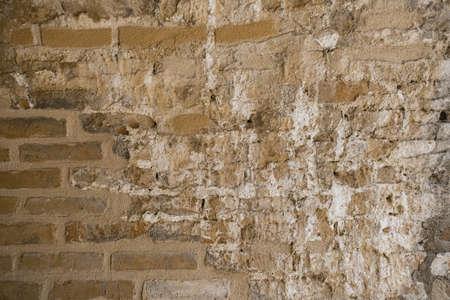 Texture of an old brick wall. Red brick. Old brick wall