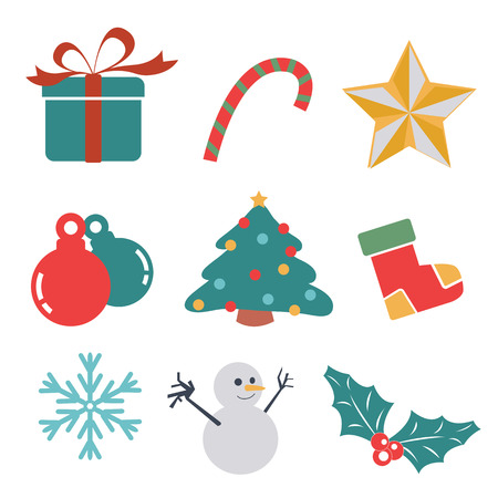Christmas gift set  Vector