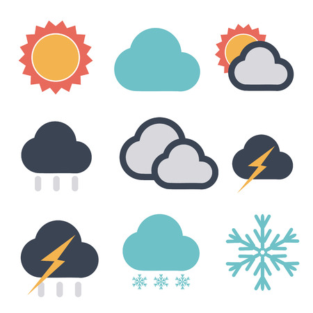 forecast icon set Vector
