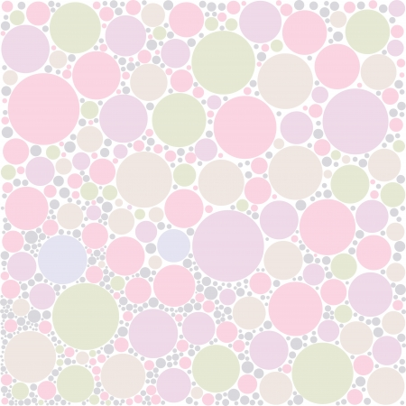 style background: pastel circle random background Illustration