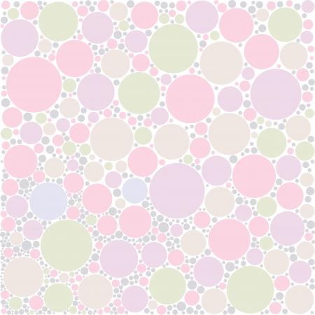 pastel circle random background Illustration