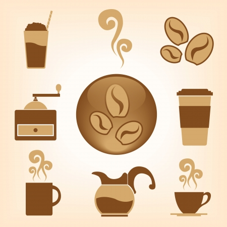 Coffee Vector icon collection Vector