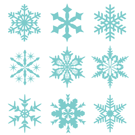 snow flake vector collection set photo