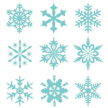 snow flake vector collection set