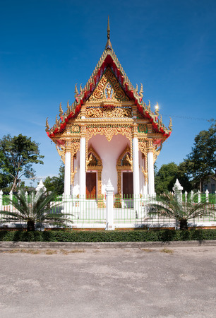 Thai local temple in Thailand photo